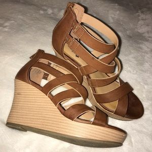 Shoes - Strappy Wedge Sandals